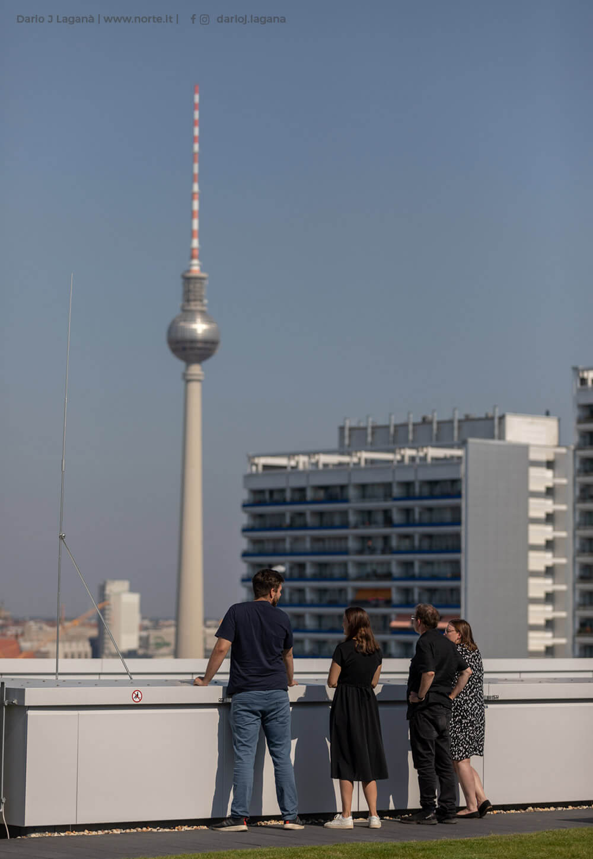 Aussicht auf den Fernsehturm von der REM