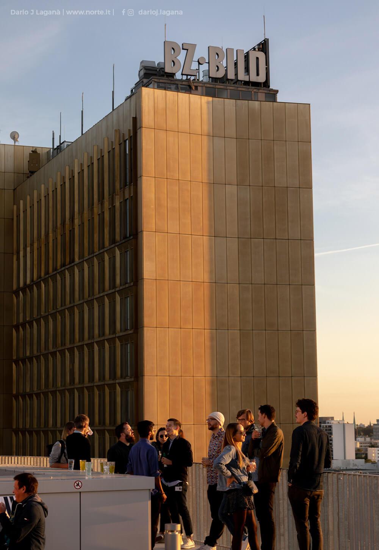 REM-Ausblick auf das Axel-Springer-Hochhaus