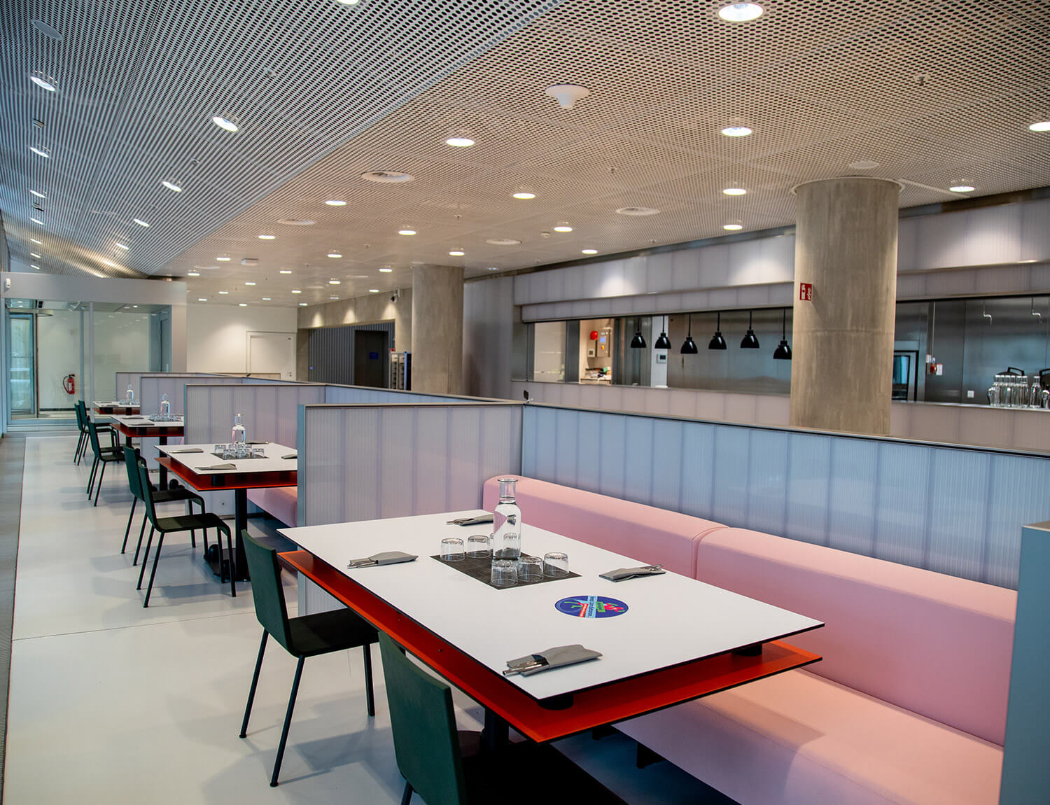 The seating area in the DINER
