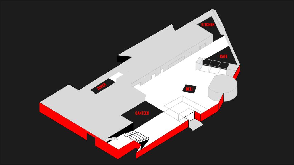 Lageplan für die Restaurants von PACE im Axel Springer Neubau